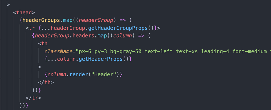 react table header groups