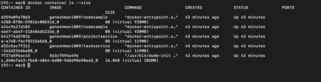 docker containers commands